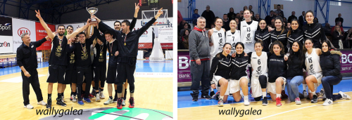 Male & Female Hibernians basketball teams